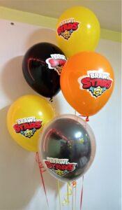 """Композиція """"BRAWL STARS"""" Ціна 200грн. В набір входить: -5шт. латексних кульок з малюнком, розміром 12"""""""