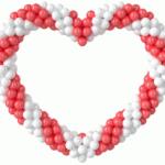 Серце з кульок