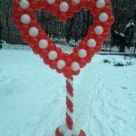Стійка - Серце з кульок