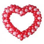 Серце плетене з кульок