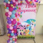 Кульки на фото зону для дівчинки