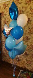 """Композиція """"Біло - Голуба"""" Ціна 475грн. В набір входить: -3шт. фольговані 18"""" кульки -8шт. латексні кульки"""