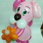 Песик з кульок для дівчинки