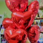 """Композиція """"Серця червоні"""" Ціна 585 грн. В набір входить: -9шт. Фольговані червоні серця розміром 18"""""""