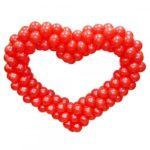 Серце з круглих кульок